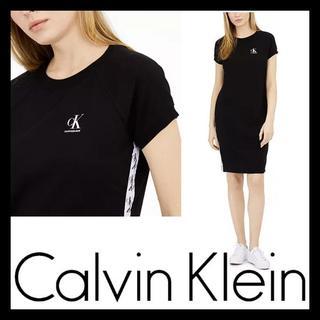 Calvin Klein - CK★カルバンクライン ロゴ サイド テープ ワンピース US/Sサイズ