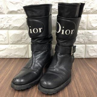 ディオール(Dior)の714.44 クリスチャンディオール Dior ショートレザーブーツ(ブーツ)