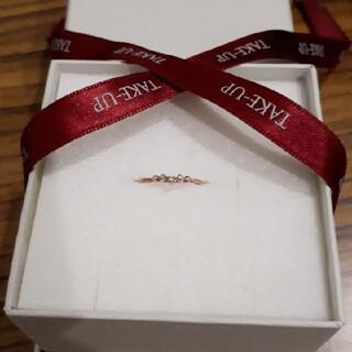 テイクアップ(TAKE-UP)のダイヤモンドVラインリングカラー ピンクゴールドサイズ 7号定価(リング(指輪))