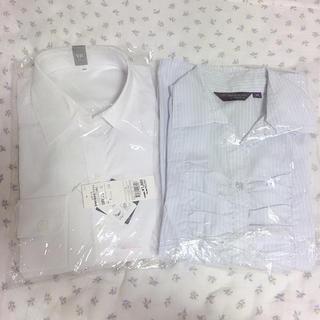 アオキ(AOKI)の長袖 レディース シャツ Mサイズ 2枚セット ビジネス OL(シャツ/ブラウス(長袖/七分))