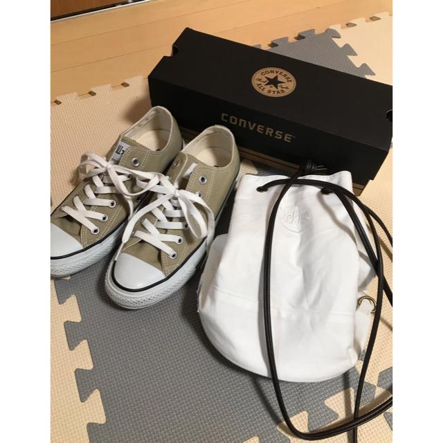 CONVERSE(コンバース)のコンバース オールスター スニーカー ベージュ  ディッキーズ 巾着風バッグ レディースの靴/シューズ(スニーカー)の商品写真