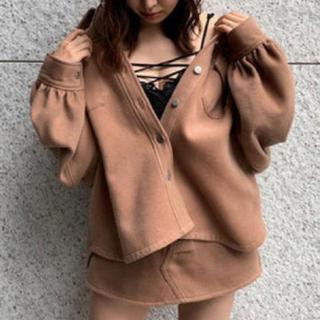アンビー(ENVYM)のENVYM アンビー セットアップ ジャケット×スカート ブラウン(セット/コーデ)