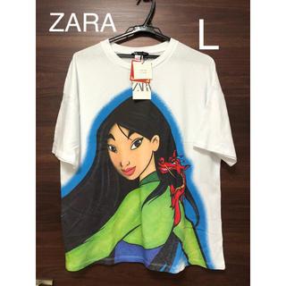 ZARA - 未使用タグ付 ZARA ディズニー 映画 ムーラン Tシャツ L