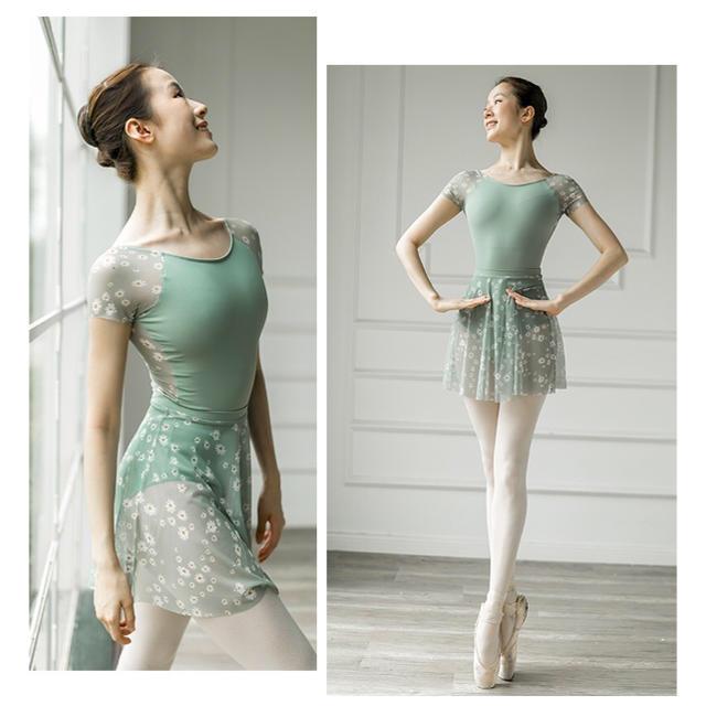 社交ダンス バレエ レオタードスカート セット スポーツ/アウトドアのスポーツ/アウトドア その他(ダンス/バレエ)の商品写真