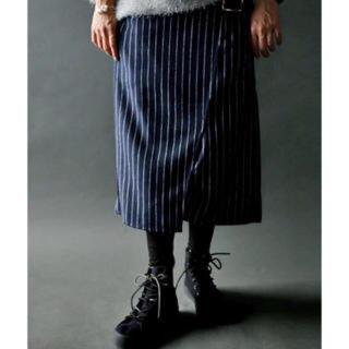 アンティカ(antiqua)のアンティカ ストライプ スカート(ひざ丈スカート)