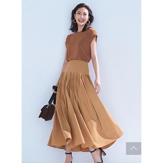 エムプルミエ(M-premier)のエムプルミエ ♡リネンライクタックプリーツスカート(ロングスカート)