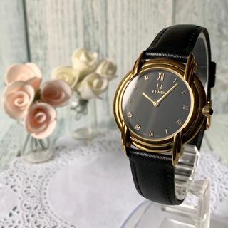 フェンディ(FENDI)の【電池交換済】FENDI フェンディ 腕時計 300J ゴールド メンズ(腕時計(アナログ))