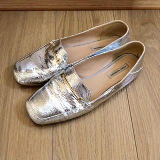 ファビオルスコーニ(FABIO RUSCONI)のファビオルスコーニ フラットローファー シルバー(ローファー/革靴)