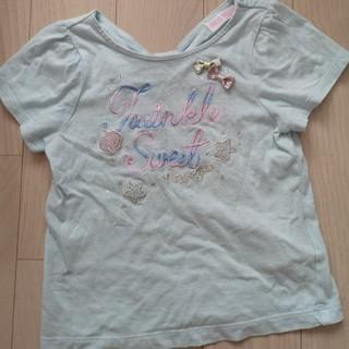 mezzo piano - メゾピアノ シェルモチーフロゴTシャツ 110cm