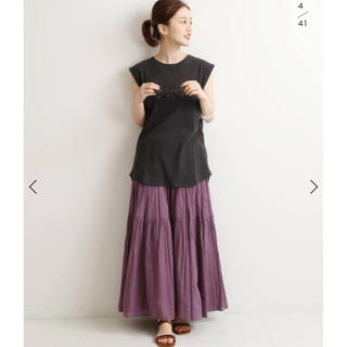 IENA - IENA コットンボイル ティアードスカート新品タグ付き
