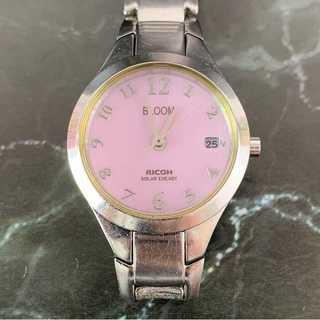 リコー(RICOH)の☆格安セール☆ 【リコー】 腕時計 アナログ メタルベルト シルバー 銀 ピンク(腕時計)