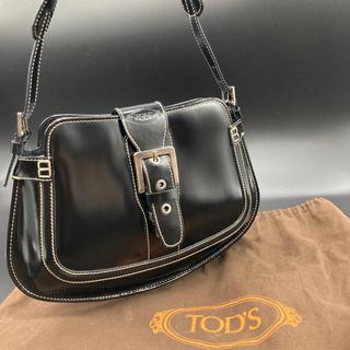 トッズ(TOD'S)のトッズ TOD's スムースレザー ショルダーバッグ ブラック(ショルダーバッグ)