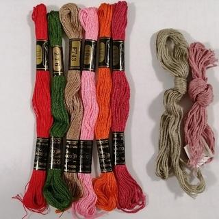 オリンパス(OLYMPUS)の刺繍糸 OLYMPUS★8本:A★ オリムパス 25番 刺しゅう糸(生地/糸)
