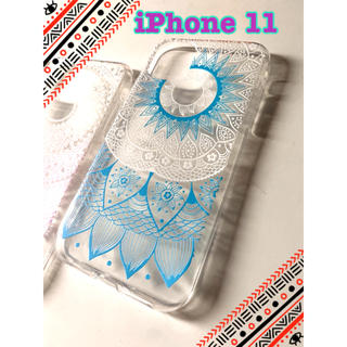 iPhone 11ケース ブルー