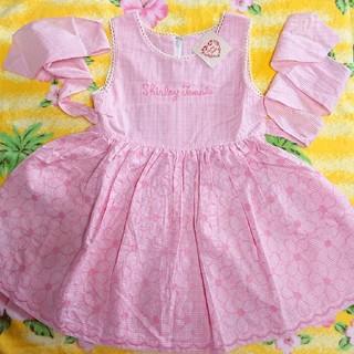 Shirley Temple - シャーリーテンプル♥新品タグ付き♥花刺繍ワンピース♥110cm