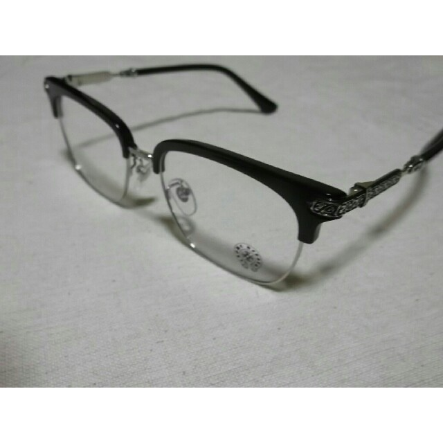 Chrome Hearts(クロムハーツ)のクロムハーツ伊達メガネ ブラックシルバー メンズのファッション小物(サングラス/メガネ)の商品写真