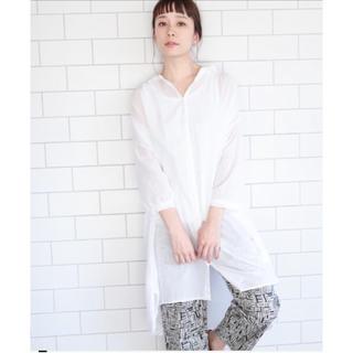 STUDIO CLIP - スタジオクリップ コットンボイル製品染めシャツワンピース M ホワイト