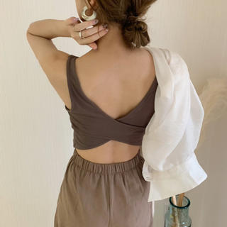 iamofficial  back cross bra top