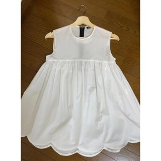 ドゥロワー(Drawer)のYOKO CHAN♡Hem Scallop Cotton Blouse(シャツ/ブラウス(半袖/袖なし))