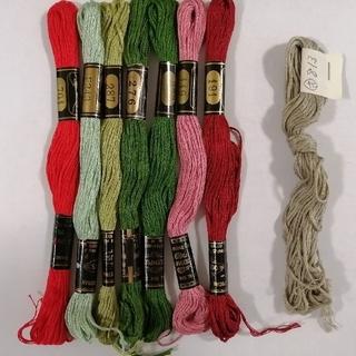 オリンパス(OLYMPUS)の刺繍糸 OLYMPUS★8本:D★ オリムパス 25番 刺しゅう糸(生地/糸)