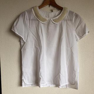 アイアムアイ(I am I)のI am I  アイアムアイ ホワイト 白  半袖 ブラウス(シャツ/ブラウス(半袖/袖なし))