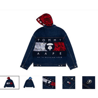 A BATHING APE - AAPE X TOMMY JEANS DENIM TRUKER JACKET M