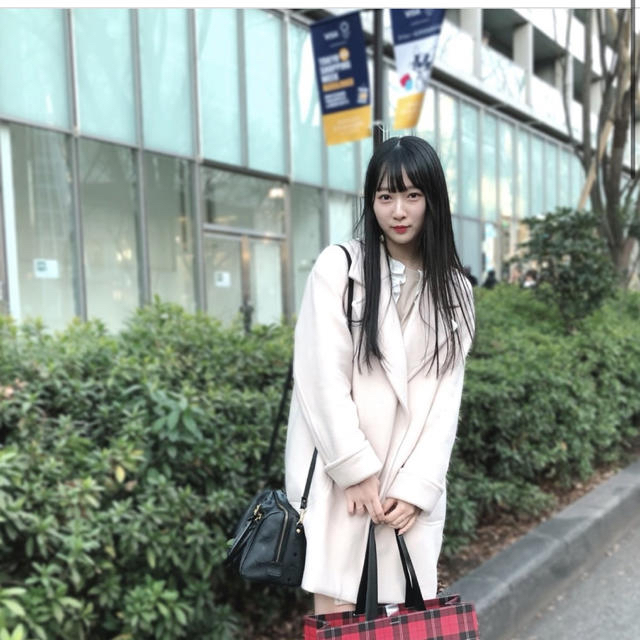 snidel(スナイデル)のsnidel♡ライトコクーンコート♡オフホワイト レディースのジャケット/アウター(ロングコート)の商品写真