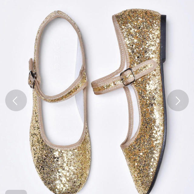 who's who Chico(フーズフーチコ)のグリッターカンフーシューズ レディースの靴/シューズ(バレエシューズ)の商品写真