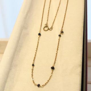 agete - agete ブラックダイヤ ネックレス