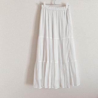 UNIQLO - UNIQLO♥白♥ロングスカート