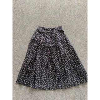 シャネル(CHANEL)の20SS シャネル ブラック&シルバー シフォン CC ロゴ スカート(ロングワンピース/マキシワンピース)