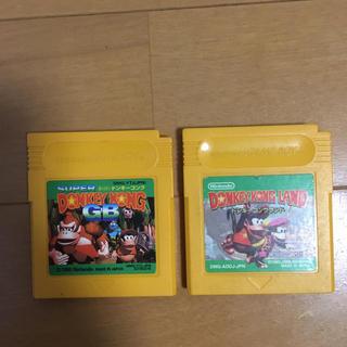 ゲームボーイ(ゲームボーイ)の2個セット ドンキーコング1 ドンキーコング2 ゲームボーイ(携帯用ゲームソフト)