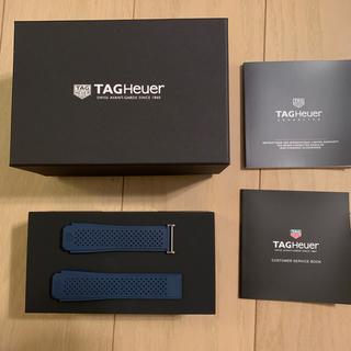 タグホイヤー(TAG Heuer)のタグホイヤー モジュラー45 用 ラバーストラップ ネイビー(ラバーベルト)
