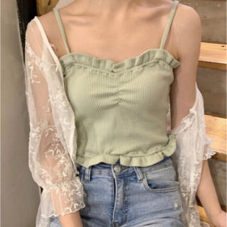 [新品]  [本日のみ値下げ!] フリルキャミソール 韓国ファッション 夏