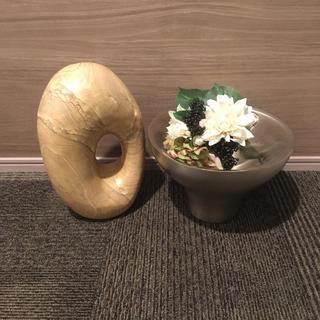 フランフラン(Francfranc)の石 オブジェ 置物 ステンレス 金属 インテリア(置物)