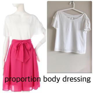 プロポーションボディドレッシング(PROPORTION BODY DRESSING)の✳︎スパンローンリボンブラウス✳︎プロポーションボディドレッシング✳︎3サイズ(シャツ/ブラウス(半袖/袖なし))