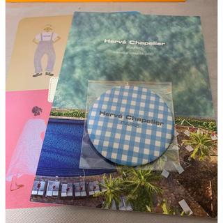 Herve Chapelier - エルベシャプリエ の路面店限定のノベルティ−ミラー 水色のチェック