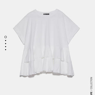 ザラ(ZARA)の(ソフィー様専用)ZARAフリルTシャツ(Tシャツ(半袖/袖なし))