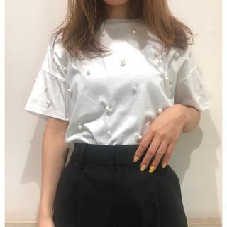 グレースコンチネンタル(GRACE CONTINENTAL)のグレースクラス パールTシャツ(Tシャツ(半袖/袖なし))