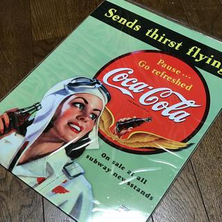 コカコーラ(コカ・コーラ)のコカ・コーラ Sends thirst flying ブリキ看板 405×315(その他)