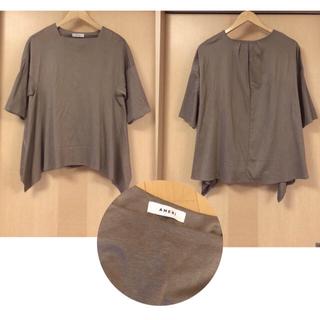 アメリヴィンテージ(Ameri VINTAGE)のAMERI*SCOOPED NECK TOP スクエアカットTシャツ(カットソー(半袖/袖なし))