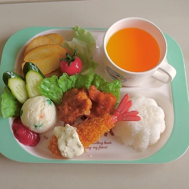 食品サンプル お子様ランチ インテリア/住まい/日用品のインテリア小物(置物)の商品写真