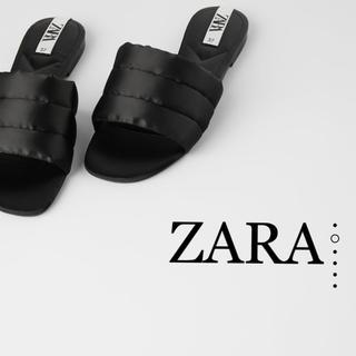 ZARA - ZARA♡キルティング加工フラットサンダル