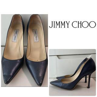 JIMMY CHOO - ジミーチュウ ブラックレザー パンプス