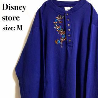 ディズニー(Disney)のディズニーストア Disney ボタン ロンT グーフィー ブルー 青(Tシャツ/カットソー(七分/長袖))