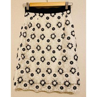 レッセパッセ(LAISSE PASSE)のレッセパッセ  花柄レーススカート(ひざ丈スカート)
