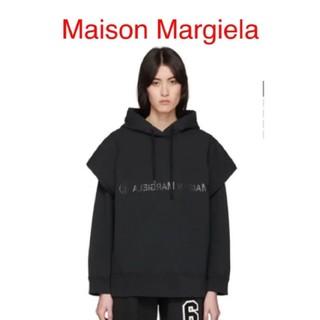 マルタンマルジェラ(Maison Martin Margiela)のMM6 MAISON MARGIELA ブラック ダブルレイヤード フーディ(パーカー)