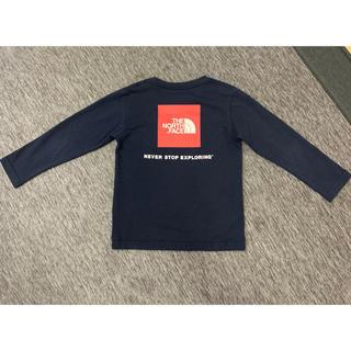 THE NORTH FACE - ノースフェイス スクエアロゴ Tシャツ ロンT ネイビー 120cm