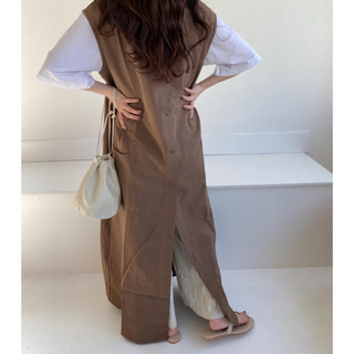 新品未開封 lawgy 2way vest onepiece brown