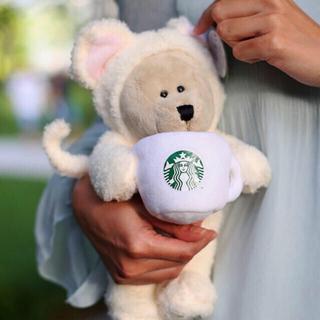 スターバックスコーヒー(Starbucks Coffee)のタグ付き新品⭐️Starbucks ベアリスタ ハッピーネズミ (ぬいぐるみ)